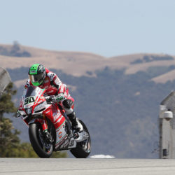 Eugene suffers tyre-related crash in Race 1 at Laguna Seca