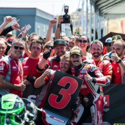Eugene Laverty takes stunning maiden podium for Milwaukee Aprilia