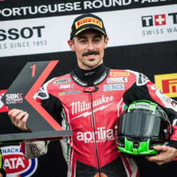 Eugene Laverty takes record-breaking pole position ahead of heartbreaking Race One at Portimao