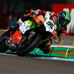 Eugene fractures both wrists at Imola